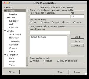 PuTTY on Mac OS X